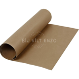faux Leather Papier Donker bruin Bij vilt enzo