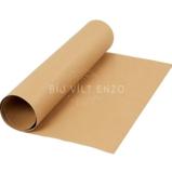 faux leatherpapier licht bruin Bij vilt enzo
