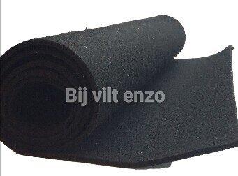 3 mm dik Wol Vilt 45 x 100 cm Zwart