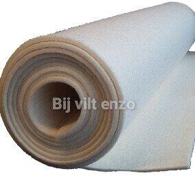 3 mm dik Wol Vilt 45 x 100 cm Wit