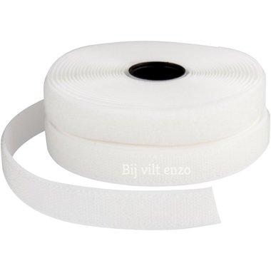 Klittenband Wit - Naaibaar ca. 1 meter