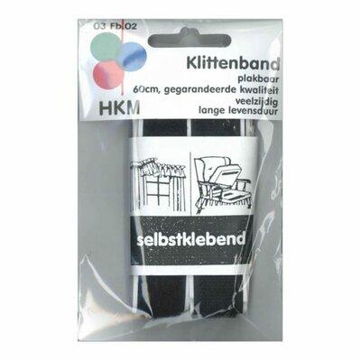 Klittenband Plakbaar ZWART - 60 cm