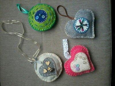 Vilten Hangers gemaakt door Patricia Vonk