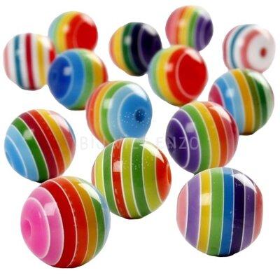 50 Regenboogkralen 12mm