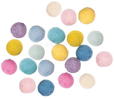 20 Viltkralen 15 mm Pastel Mix