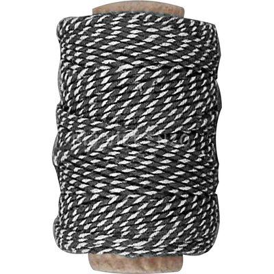 Katoenkoord Zwart- 50 meter