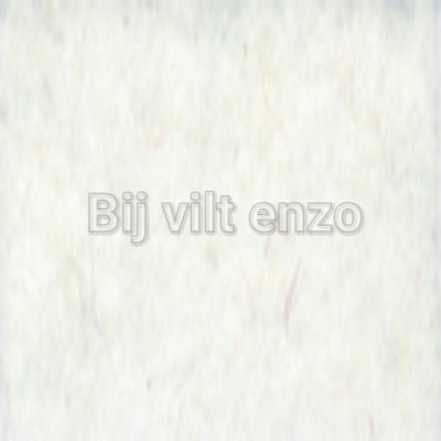 Wolvilt V001 Wit Lapje 20x30cm