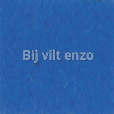 Wolvilt V046 Koningsblauw Lapje 20x30cm