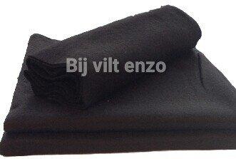 Acryl Vilt ca. 45 x 100 cm ZWART 1mm dik