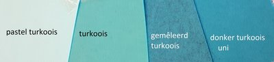 3mm Dik Vilt TREND Turkoois