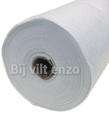 Vilt Wit van de Rol - 90 cm breed
