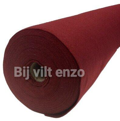 Vilt Warm Rood van de Rol - 90 cm breed