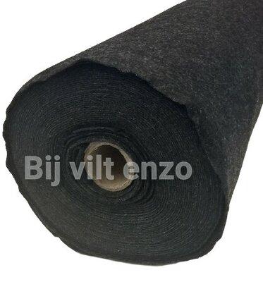 Vilt van de Rol 1mm dik- 90 cm breed ZWART