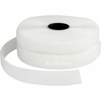 Klittenband Wit - Naaibaar ca. 95 cm