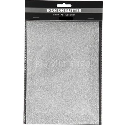 Opstrijkfolie Glitter - Zilver