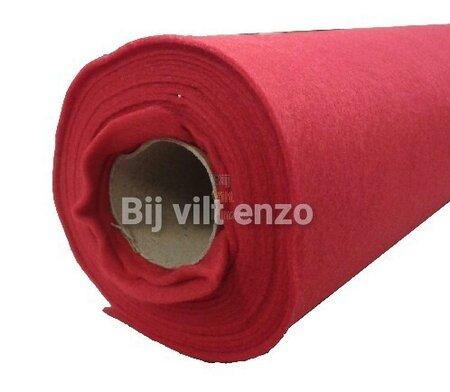 Vilt Rood van de Rol - 90 cm breed