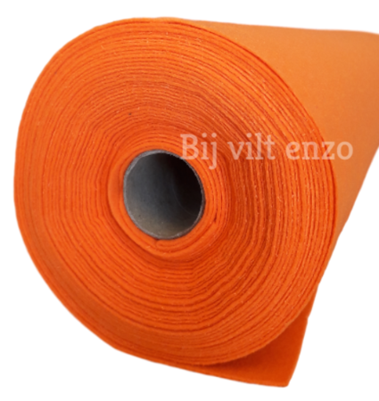 Vilt Oranje van de Rol - 90 cm breed