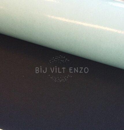 Plakvilt 90 cm breed - per rol 5meter Zwart