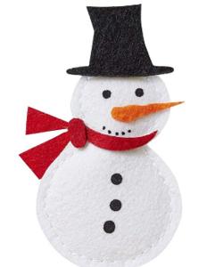 Sneeuwpop Bij vilt enzo
