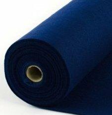 Vilt kobalt blauw 90 cm breed Bij vilt enzo