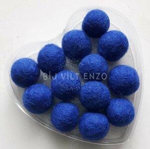 Viltkralen Koningsblauw Bij vilt enzo