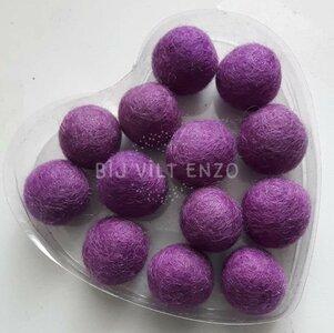 Viltkralen Lavendel Bij vilt enzo