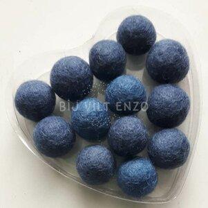Viltkralen Grijsblauw Bij vilt enzo