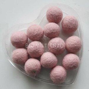 Vilkralen zacht roze Bij vilt enzo