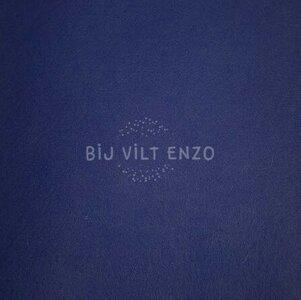 Plakvilt per meter Blauw Bij vilt enzo