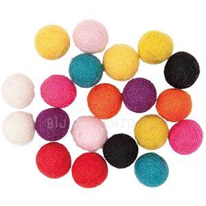 Mix Multicolor viltkralen Bij vilt enzo