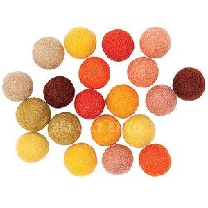 Mix Geel tinten Viltkralen Bij vilt enzo
