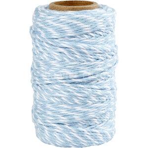 Katoenkoord Licht Blauw  Wit Bij vilt enzo