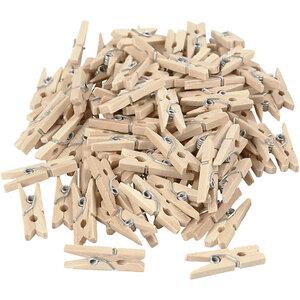 Mini houten wasknijpers Bij vilt enzo