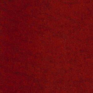 Wolvilt lapje 20 x 30 cm Gemeleerd Rood