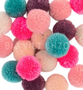 Pompons Jolly Pastel - 24 stuks