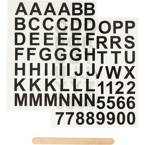 Rub on Sticker Cijfers en Letters Bij vilt enzo