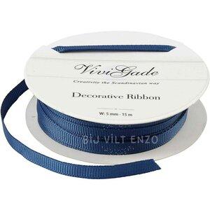 Decoratie Lint Blauw Bij vilt enzo