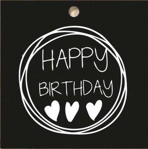 Cadeaukaartje Happy Birthday Bij vilt enzo