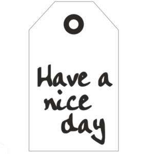 Cadeaukaartje Have a nice day Bij vilt enzo