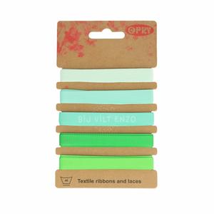 Band Grosgrain groen tinten Bij vilt enzo
