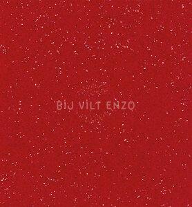 Glittervilt Rood Bij vilt enzo