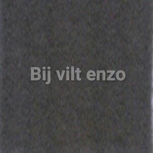 Wolvilt lapje 20 x 30 cm Antraciet