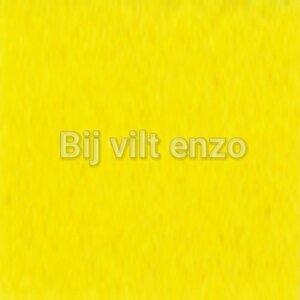 Wolvilt 20 x 30 cm Geel