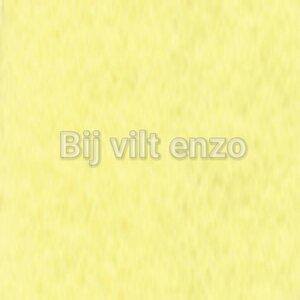 Wolvilt 20 x 30 cm Zacht Geel