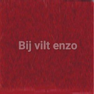 Wolvilt lapje 20 x 30 cm Bordeaux (warm) rood