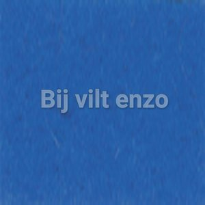 Wolvilt 20 x 30 cm Koningsblauw