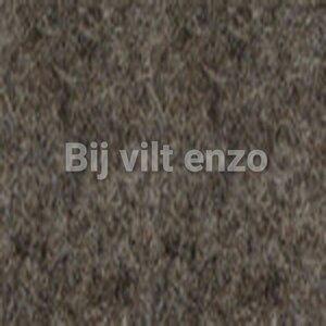 Wolvilt 20 x 30 cm Gemêleerd Donker Bruin/Ecru