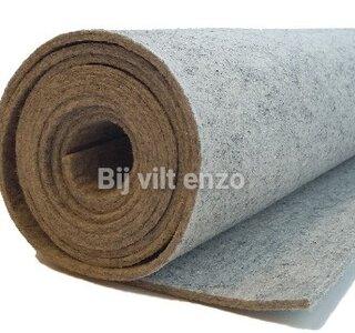 3 mm dik wol vilt licht grijs gemeleerd