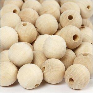 Blank houten kralen grootverpakking 20 mm Bij vilt enzo