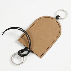 Kleine etui voor sleutels en hoofdtelefoons van leerpapier Bij vilt enzo